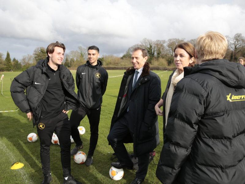 Real Madrid hero Butragueño kicks off social sports school