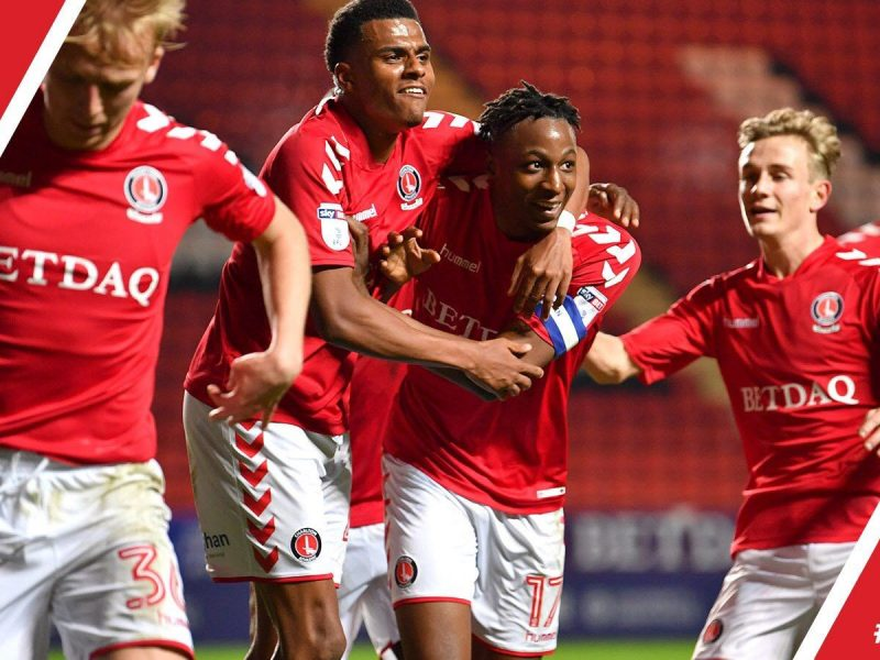 Aribo puts Charlton into the second round of the Checkatrade Trophy