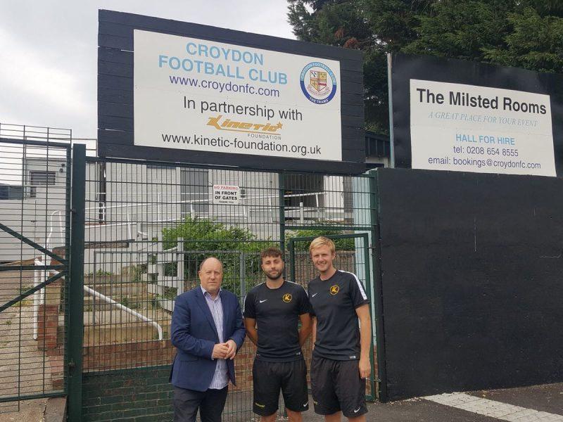 Kinetic welcome Councillor Tony to Croydon Arena
