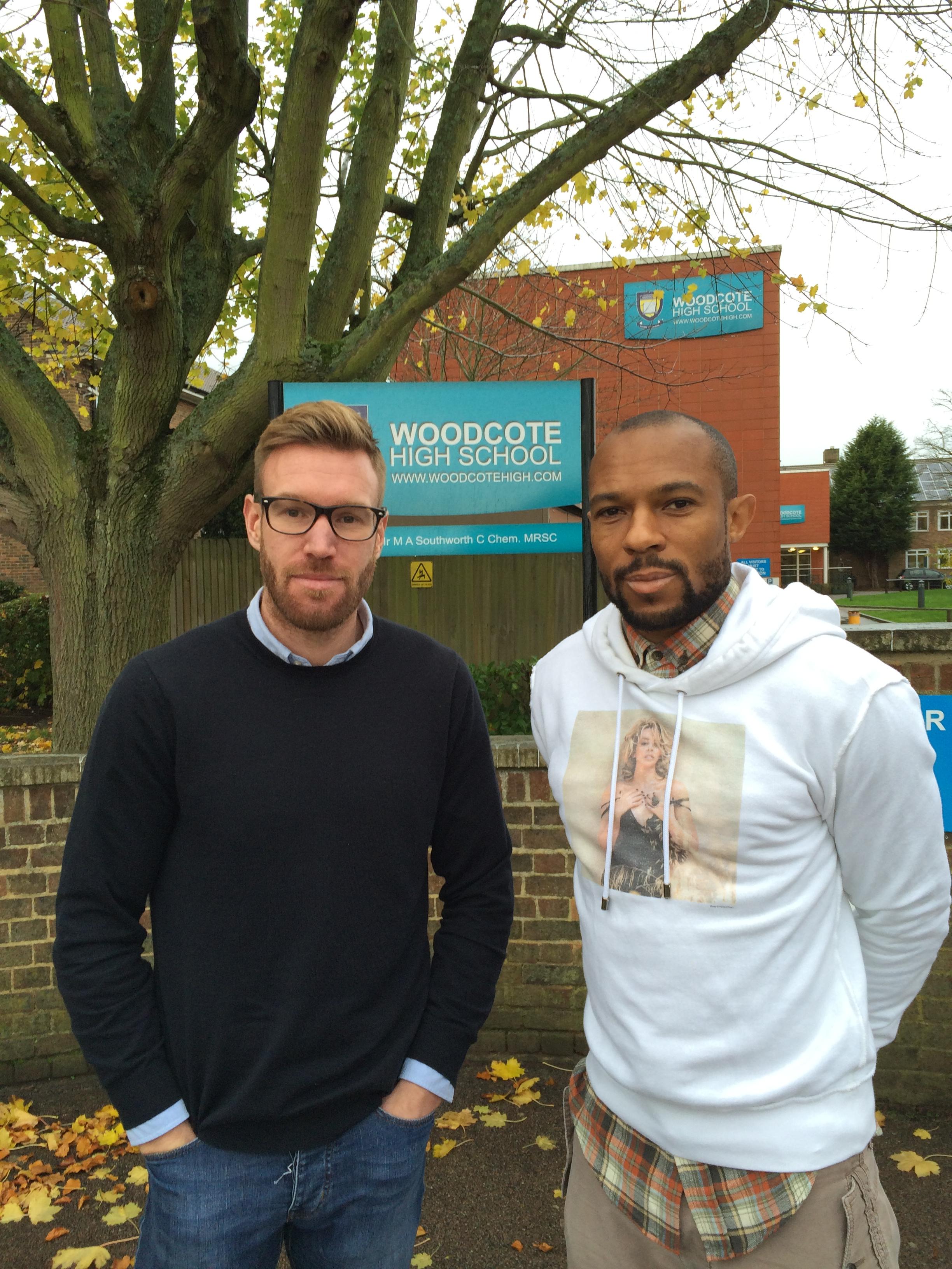 Rhys Weston and Danny Gabbidon pay us a visit at Woodcote HS