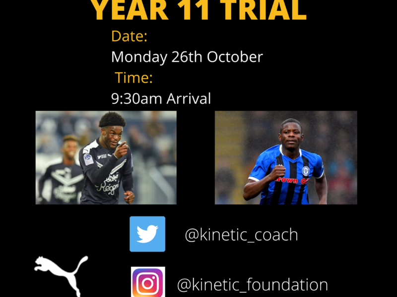 Year 11 Trials – October 2020