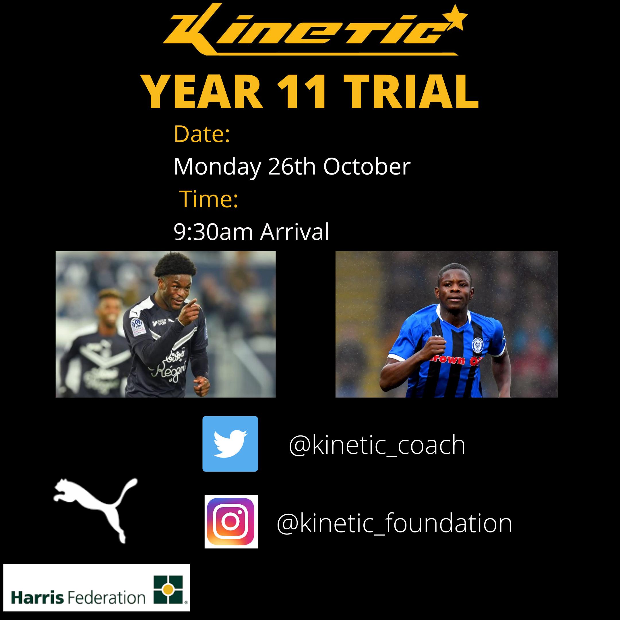 Year 11 Trials – October 2020